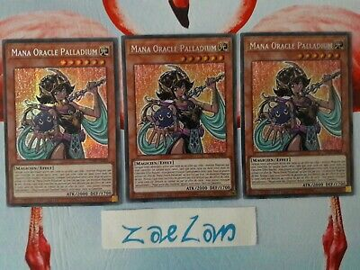 Yu-gi-oh! LOT DE 3 Mana Oracle Palladium TN19-FR004