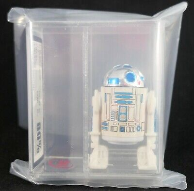 vintage Star Wars Solid Dome R2-D2 WITH SPRUES!!! figure UKG 80 (sub 85) afa