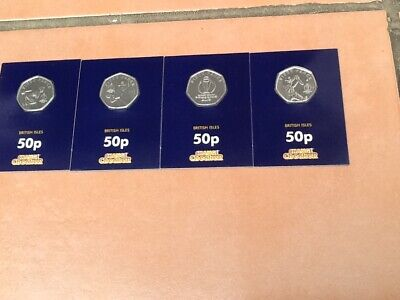 Rare Change Checker Isle Of Man 2019 Icc World Cup Cricket 4 Different 50P Coins