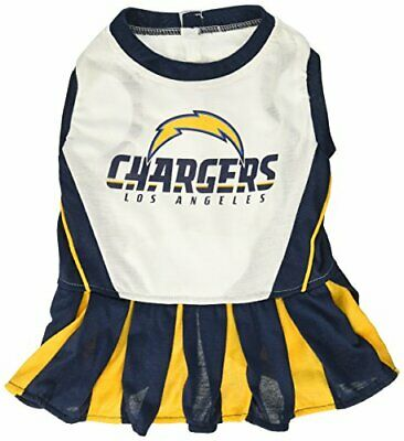Pets First NFL Los Angeles Chargers Cheerleader Dress for Dogs & Cats, NFL Team