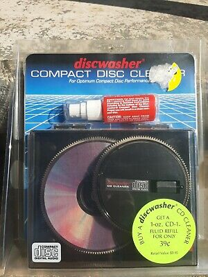 Vintage Discwasher CD Compact Disc Cleaner Restoration Kit New in Package