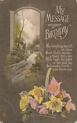 PC67327 Greeting Postcard. My Message on Your Birthday