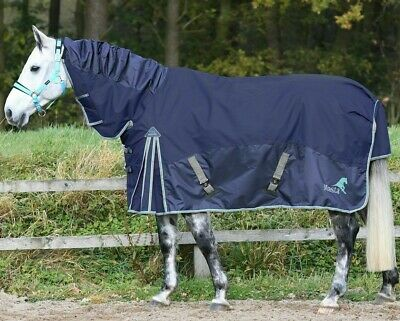 100G FIXED DOMED NECK TURNOUT RUG Navy