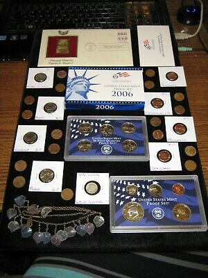 Junk Drawer COIN LOT 2006 PROOF Set Dollar Nickels Pididdly JEWELRY SILVER