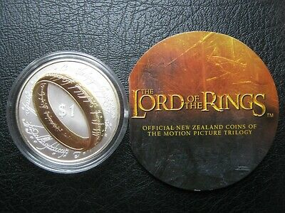 New Zealand 2003 $1 Silver Proof Coin ~ Lord of the Rings ~ by Royal Mint COA