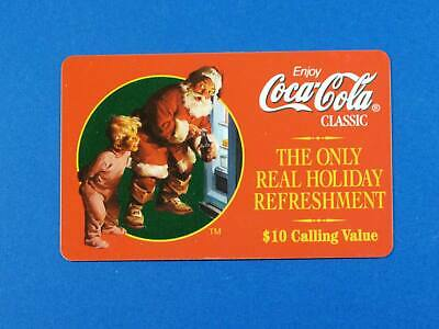 1996 Coca-Cola Classic Holiday $10 Phone Card Sundblum Santa by Sprint