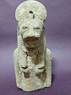 ANCIENT EGYPTIAN ANTIQUES Goddess SEKHMET Powerful Statue Egypt Art Scluptor BC
