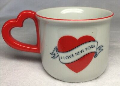 Vintage NYC I Love New York Cool Graphic Heart with Banner Coffee Tea Cup Mug