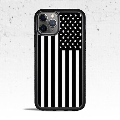 Black & White American Flag Phone Case for Apple iPhone Samsung Galaxy S & Note