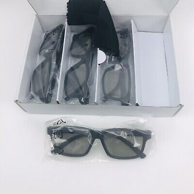 Visio 3D Theater Glasses 4 Pair with Box and Cleaning Cloth