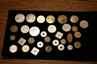 Vintage Junk Drawer Lot Tokens-Pendants-Coins..unknown