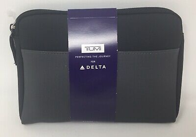 New Delta Airline One Soft Tumi Amenity Kit Black 2019 - New and Sealed