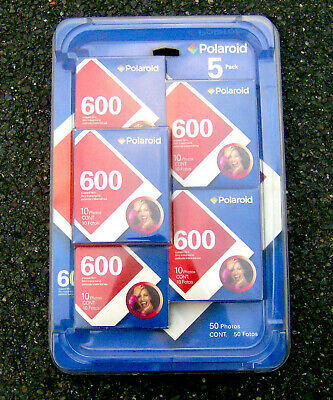 Polaroid 600 Instant Film 5 Pack Color Shield exp 06/2008 SEALED IN PLASTIC