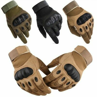 Tactical Hard Knuckle Full Finger Gloves Mens Combat SWAT CS Fight Special Force