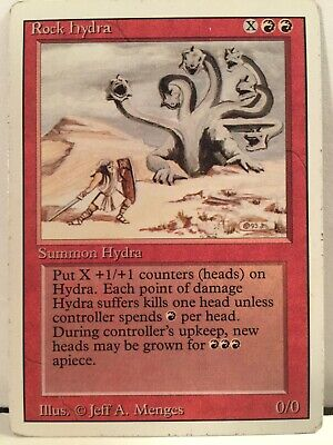 Rare Rock Hydra Magic the gathering card Revised Edition mtg Cards