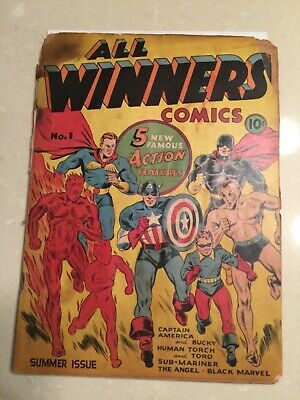 Rare 1941 Timely Golden Age All Winners Comics #1 Complete