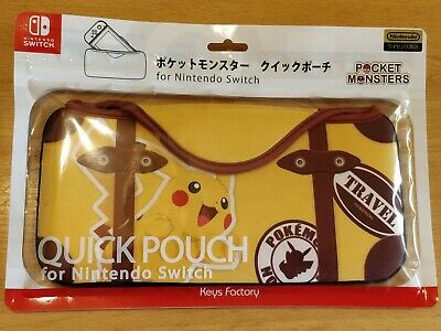 Official Pokemon Pikachu Quick Pouch Travel Case Nintendo Switch - New Sealed