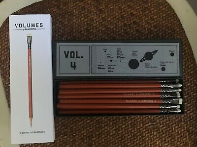 Palomino Blackwing Pencils Volumes 4 - Mint In Box - 12 Pencils - Limited