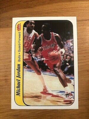 1986-87 Fleer Sticker MICHAEL JORDAN #8 Chicago Bulls Reprint Rookie Card MINT