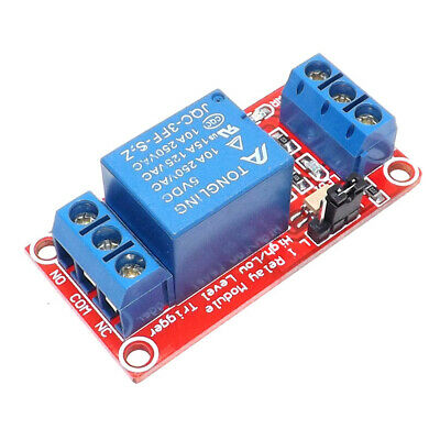 5/12/24V 1 Channel High Low Level Trigger Relay Module Board & Optocoupler Salab