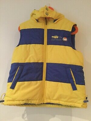 Miffy Yellow & Blue Striped Fleece Lined Hooded Vest (size 7)