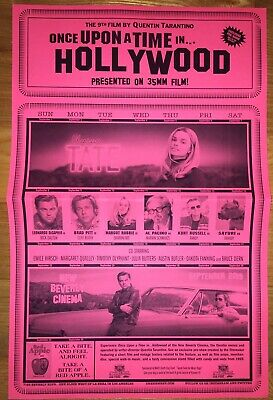 """Once Upon A Time In Hollywood 11x17"""" Flyer Only Available New Beverly Cinema"""