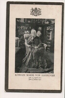Vintage Postcard Princess Marie of Saxe-Altenburg, Queen of Hannover Mourning