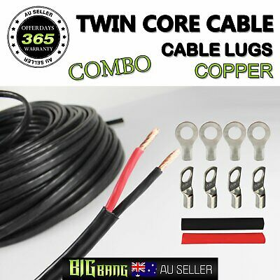 6mm2 10mm2 Dual Core Cable Twin Insulated Sheath Wire With End Lug Connector Kit