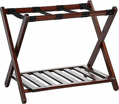 Luggage Rack For Guest Room Wood Folding Shelf Holder For Suitcase