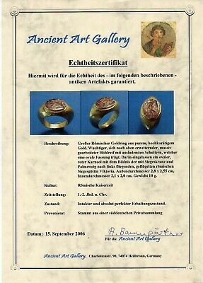 Roman era gold ring 24 carats gold, 10.52 gr. 2000 years of age, find in a tomb.
