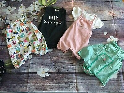 Next Baby Girl Romper And Outfit Bundle 9-12 Months