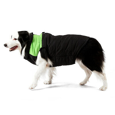 Pet Padded Jacket Large Dog Winter Coat Warm Waterproof Windbreaker Green M