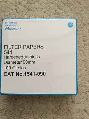 Whatman Filter Papers, Hardened Ashless 90 mm Ø, x 100 circles Cat no. 1541-090