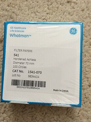 Whatman Filter Papers, Hardened Ashless 70 mm Ø, x 100 circles Cat no. 1541-070