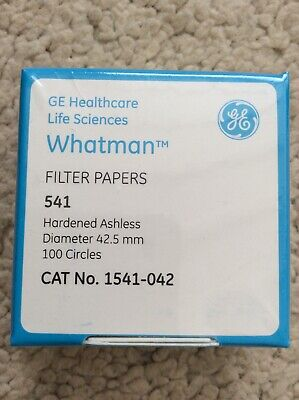 Whatman Filter Papers, Hardened Ashless 42.5mm Ø, x 100 circles Cat no. 1541-042