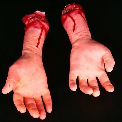 Halloween Realistic Terror Bloody Fake Body Parts Hand Props Random one L and R
