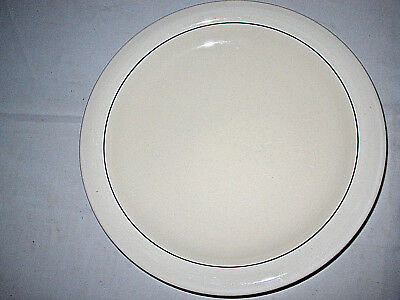 "Gibson Housewares Casualware Blue Stripe Round Platter 12""Black Stamp Excellent"