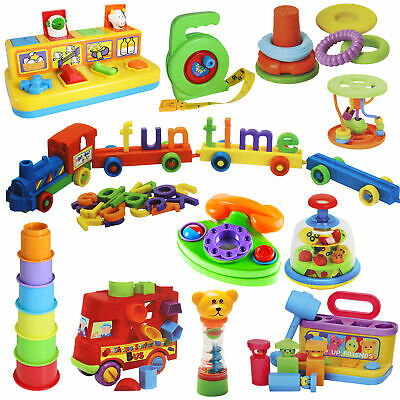 Baby Colourful Interactive Toys Shape Sorters, Cups, Links From Birth - 36 Mths