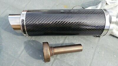 SP Engineering Carbon Bolt on end can with baffle 3 bolt connection