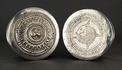 Large Silver Betel / Tobacco Box, Golden Triangle, Shan, Burma (S-18-08)