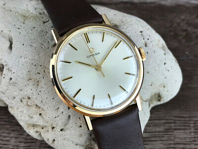 OMEGA GOLD PLATED CASE MEN'S  WATCH CAL.601 from 1964 AMAZING!