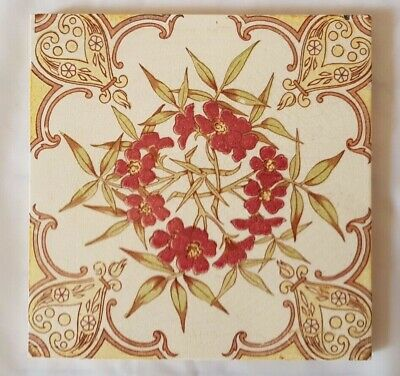 GORGEOUS pilkington SYMMETRICAL FLORAL THEME 6 INCH TILE