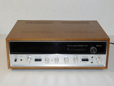 Vintage Sansui 5000A Stereo Receiver AM/FM Radio Tuner Amplifier With Wood Case