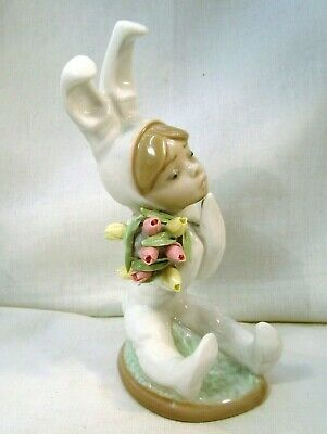 LLADRO Pretty Girl dressed as a Bunny Rabbit holding flowers