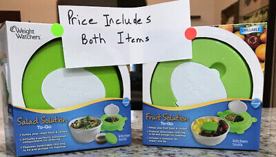 Weight Watchers Fruit AND Salad Solution To Go, Chillable, BOTH New In Box