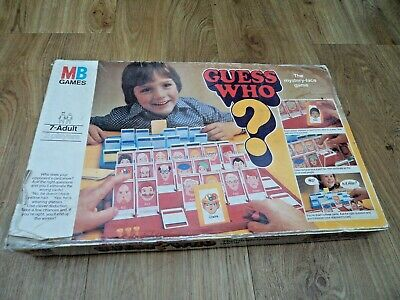 Vintage Guess Who? Board Game 1979 Edition MB Games