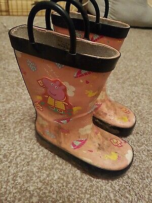 Girls Infant Size 7 Peppa Pig Wellies Wellington Boots Wellys