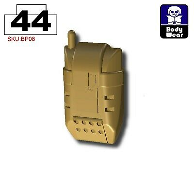 W175 Backpack Army compatible with toy brick minifig stud Dark Tan BA16