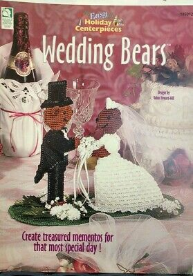 Plastic Canvas Wedding Bears Easy Holiday Centerpieces 186012 Marriage Guest