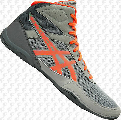 Asics Matflex 6, Men's Wrestling Shoes, Gray/Coral, 1081A021-020 NEW!